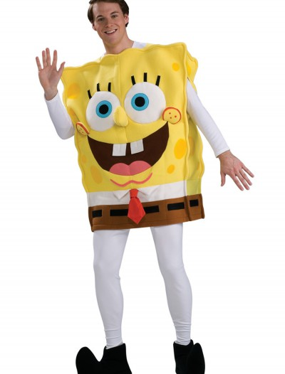 Adult Deluxe SpongeBob Costume, halloween costume (Adult Deluxe SpongeBob Costume)