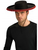 Adult Durashape Spanish Hat w/ Pompoms, halloween costume (Adult Durashape Spanish Hat w/ Pompoms)