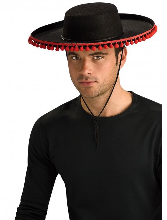 Adult Durashape Spanish Hat w/ Pompoms, halloween costume (Adult Durashape Spanish Hat w/ Pompoms)