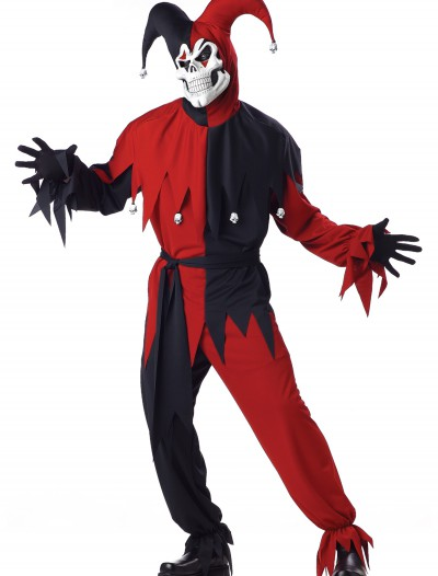 Adult Evil Jester Costume, halloween costume (Adult Evil Jester Costume)