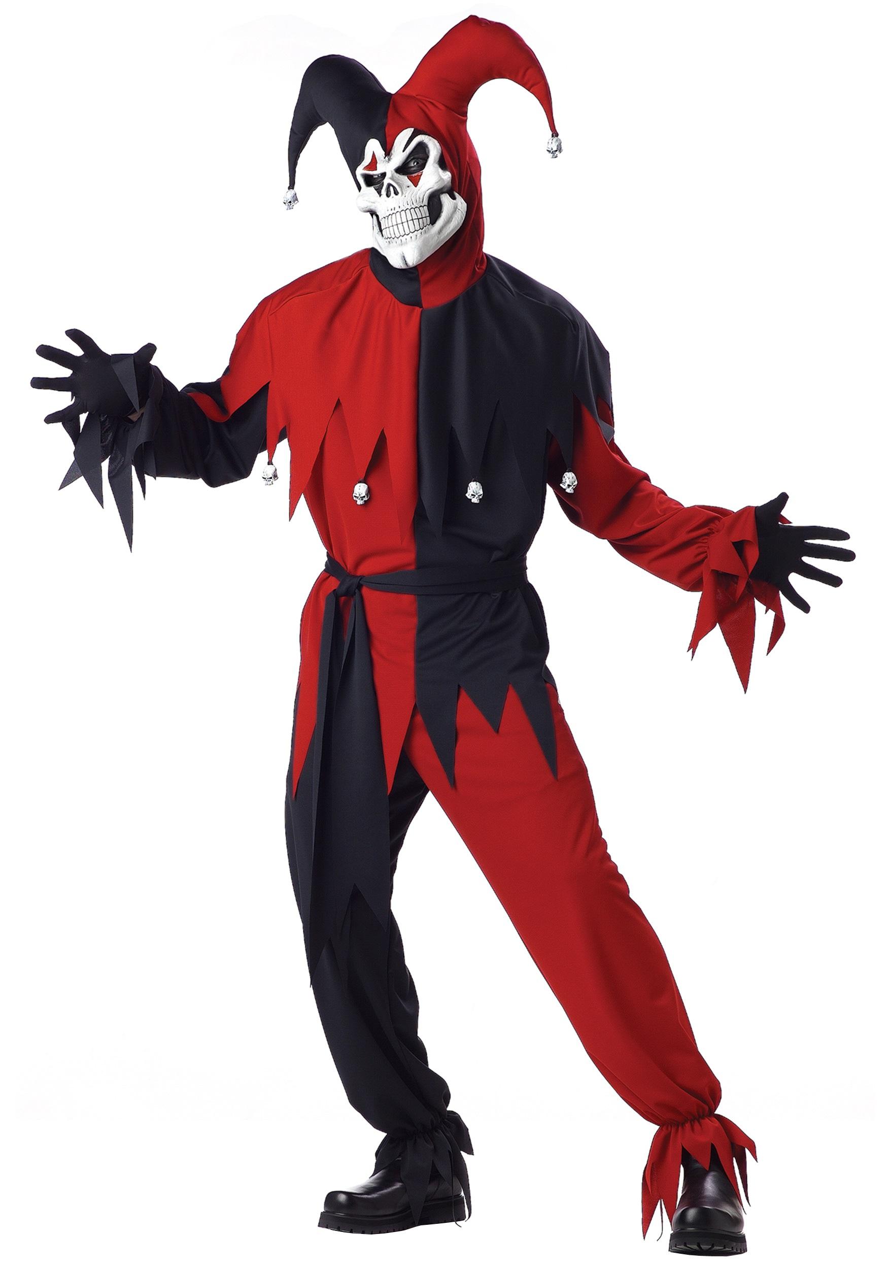Adult Evil Jester Costume  sc 1 st  Halloween Costumes & Adult Evil Jester Costume - Halloween Costumes