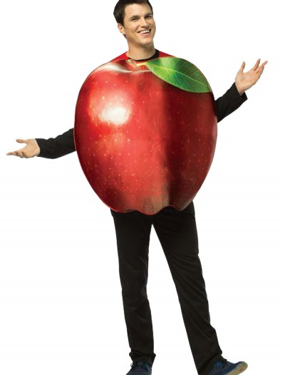 Adult Get Real Apple Costume, halloween costume (Adult Get Real Apple Costume)