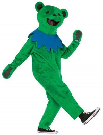 Adult Grateful Dead Green Dancing Bear Costume, halloween costume (Adult Grateful Dead Green Dancing Bear Costume)