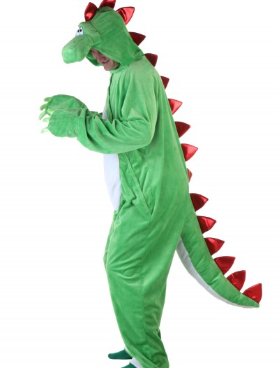 Adult Green Dinosaur w/ Red Spikes, halloween costume (Adult Green Dinosaur w/ Red Spikes)