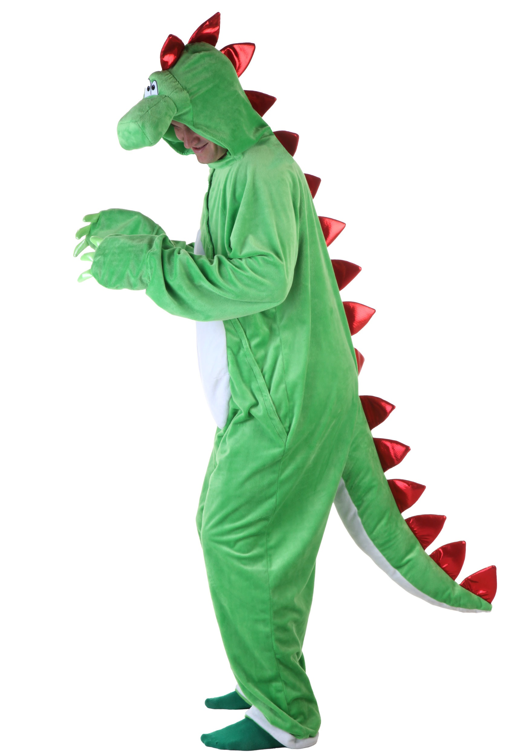 Adult Green Dinosaur w/ Red Spikes  sc 1 st  Halloween Costumes & Adult Green Dinosaur w/ Red Spikes - Halloween Costumes