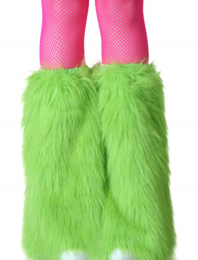 Adult Green Furry Boot Covers, halloween costume (Adult Green Furry Boot Covers)