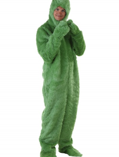Adult Green Furry Jumpsuit, halloween costume (Adult Green Furry Jumpsuit)