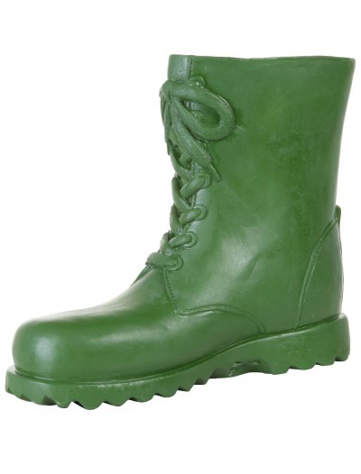 Adult Green Latex Boot Covers, halloween costume (Adult Green Latex Boot Covers)