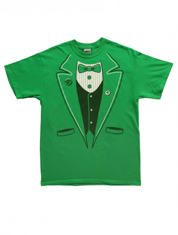 Adult Green Tuxedo T-Shirt, halloween costume (Adult Green Tuxedo T-Shirt)