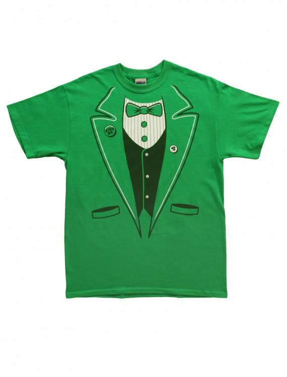Adult Green Tuxedo T-Shirt, halloween costume (Adult Green Tuxedo T-Shirt)