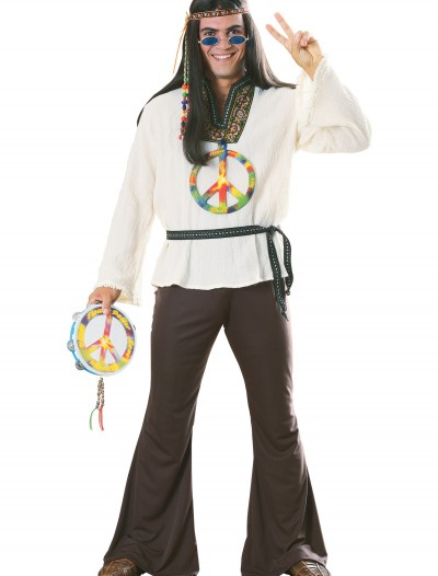 Adult Groovy Hippie Costume, halloween costume (Adult Groovy Hippie Costume)