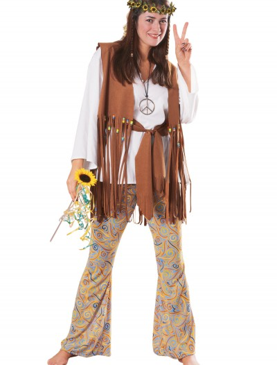 Adult Hippie Love Child Costume, halloween costume (Adult Hippie Love Child Costume)