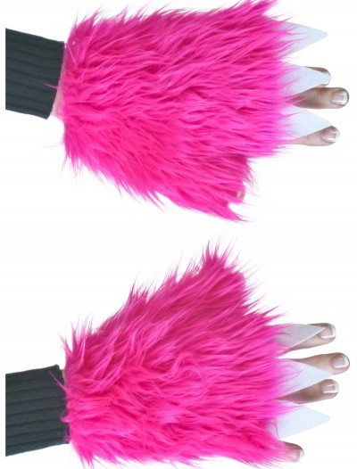 Adult Hot Pink Furry Hand Covers, halloween costume (Adult Hot Pink Furry Hand Covers)