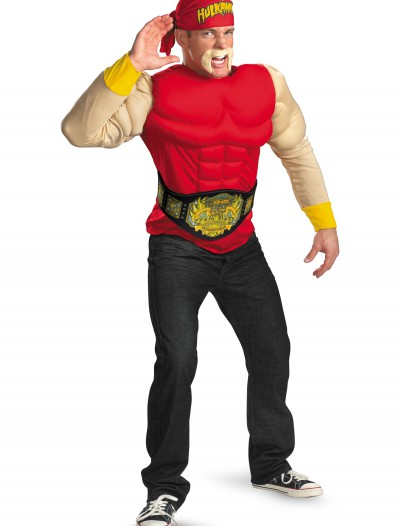 Adult Hulk Hogan Muscle Costume, halloween costume (Adult Hulk Hogan Muscle Costume)