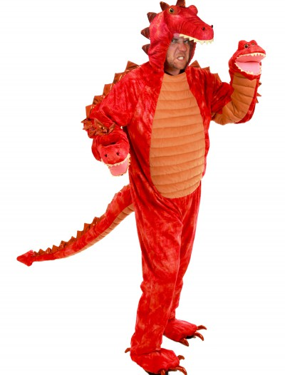 Adult Hydra Red Dragon Costume, halloween costume (Adult Hydra Red Dragon Costume)