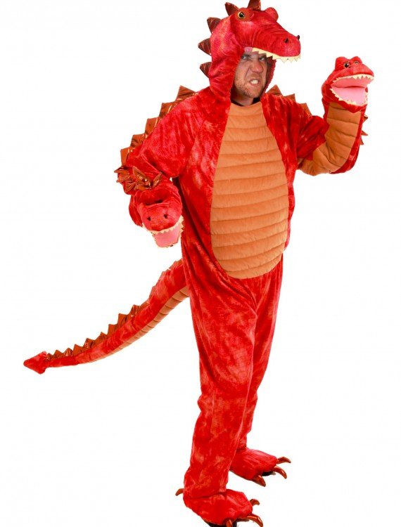 Adult Hydra Red Dragon Costume, halloween costume (Adult Hydra Red Dragon Costume)