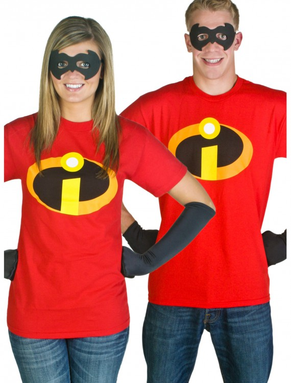 Adult Incredibles T-Shirt Costume, halloween costume (Adult Incredibles T-Shirt Costume)