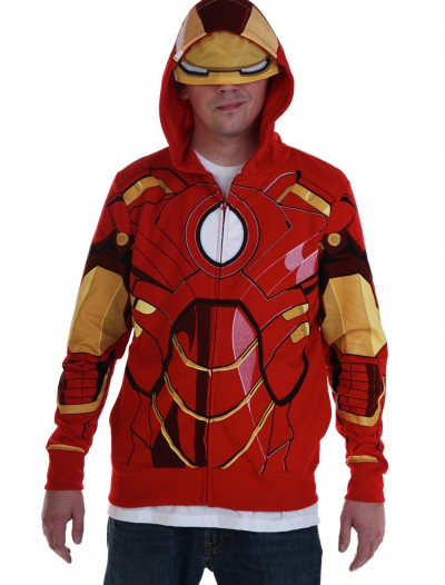 Adult Iron Man Costume Hoodie, halloween costume (Adult Iron Man Costume Hoodie)