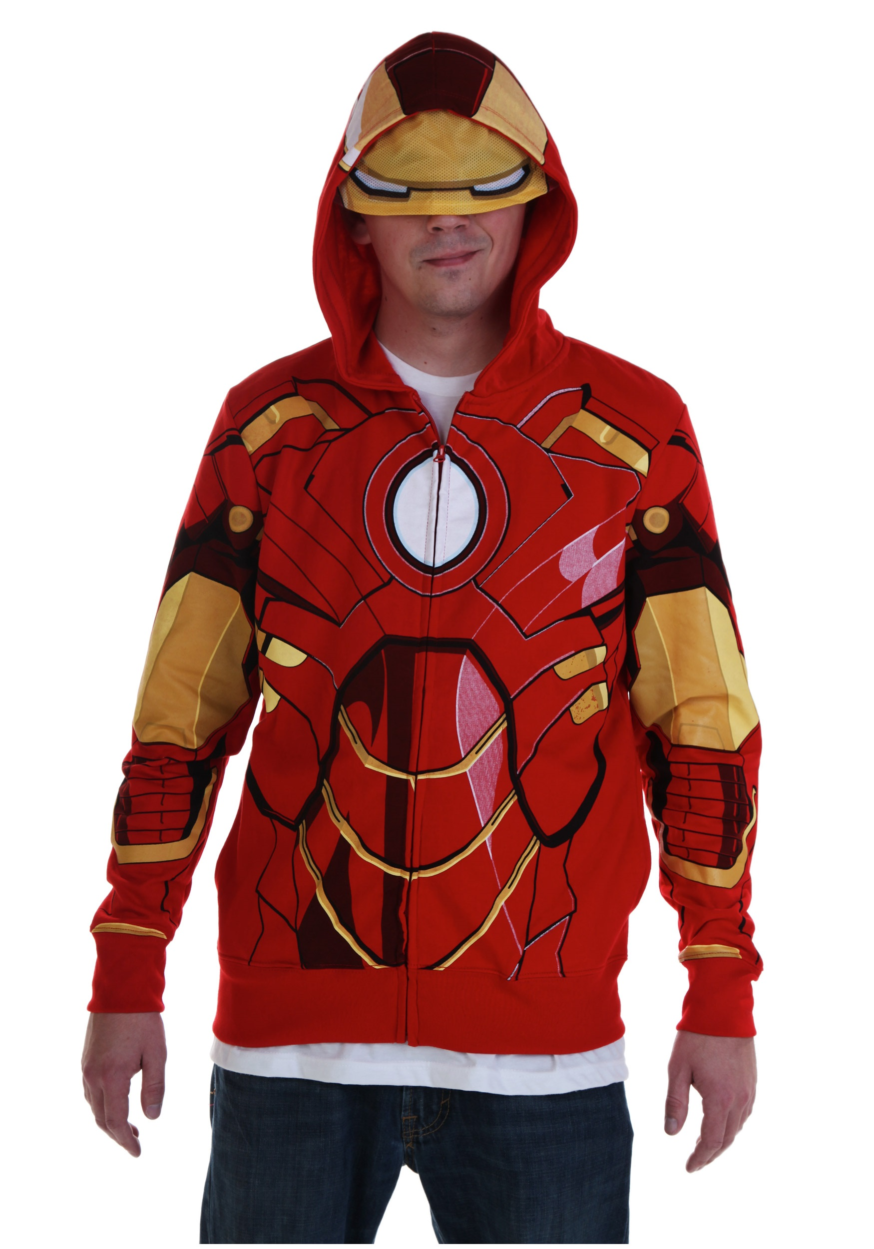 Adult Iron Man Costume Hoodie  sc 1 st  Halloween Costumes & Adult Iron Man Costume Hoodie - Halloween Costumes