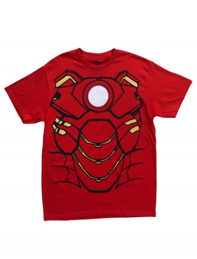 Adult Iron Man Costume T-Shirt, halloween costume (Adult Iron Man Costume T-Shirt)