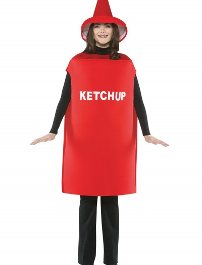Adult Ketchup Costume, halloween costume (Adult Ketchup Costume)