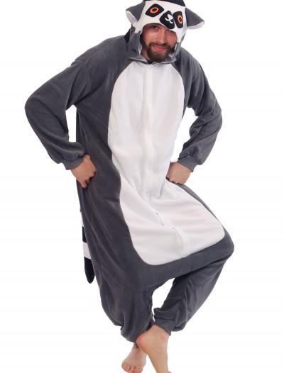 Adult Lemur Pajama Costume, halloween costume (Adult Lemur Pajama Costume)