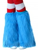 Adult Light Blue Furry Boot Covers, halloween costume (Adult Light Blue Furry Boot Covers)