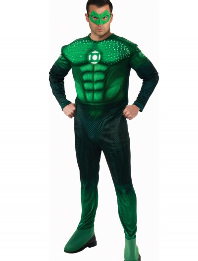 Adult Light Up Green Lantern Costume, halloween costume (Adult Light Up Green Lantern Costume)
