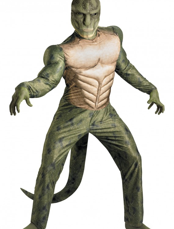 Adult Lizard Muscle Costume, halloween costume (Adult Lizard Muscle Costume)