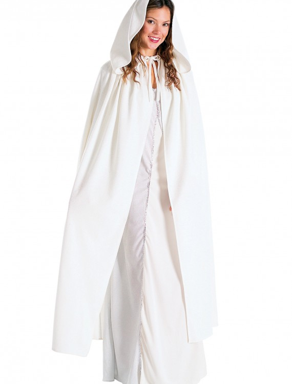 Adult Lord of the Rings White Arwen Cloak, halloween costume (Adult Lord of the Rings White Arwen Cloak)