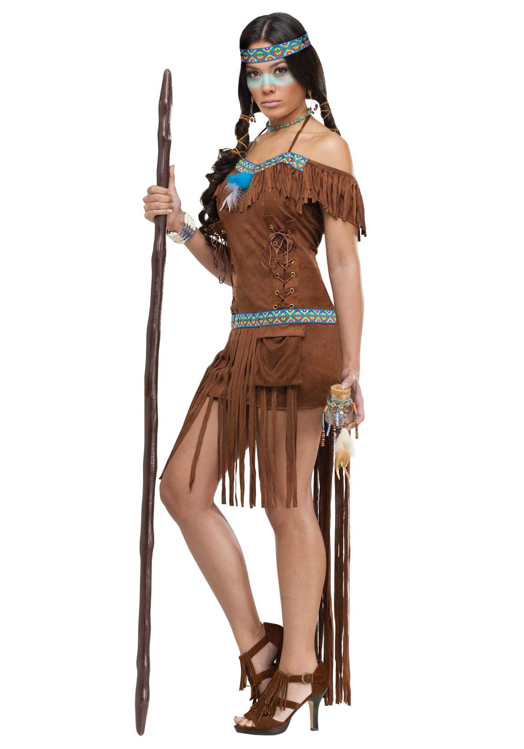 Adult Medicine Woman Costume - Halloween Costumes