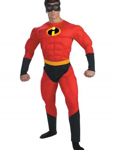 Adult Mr. Incredible Costume, halloween costume (Adult Mr. Incredible Costume)