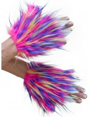 Adult Multicolor Furry Hand Covers, halloween costume (Adult Multicolor Furry Hand Covers)