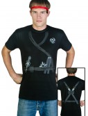 Adult Ninja Costume T-Shirt, halloween costume (Adult Ninja Costume T-Shirt)