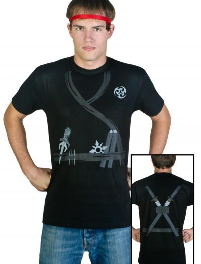 Adult Ninja Costume T-Shirt, halloween costume (Adult Ninja Costume T-Shirt)
