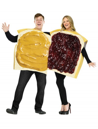 Adult Peanut Butter and Jelly Costume, halloween costume (Adult Peanut Butter and Jelly Costume)