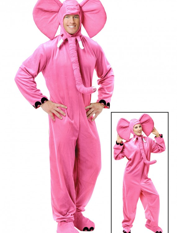 Adult Pink Elephant Costume, halloween costume (Adult Pink Elephant Costume)