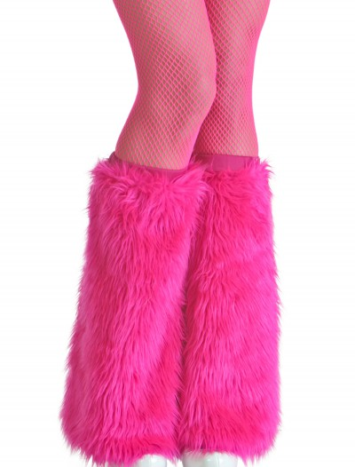 Adult Pink Furry Boot Covers, halloween costume (Adult Pink Furry Boot Covers)