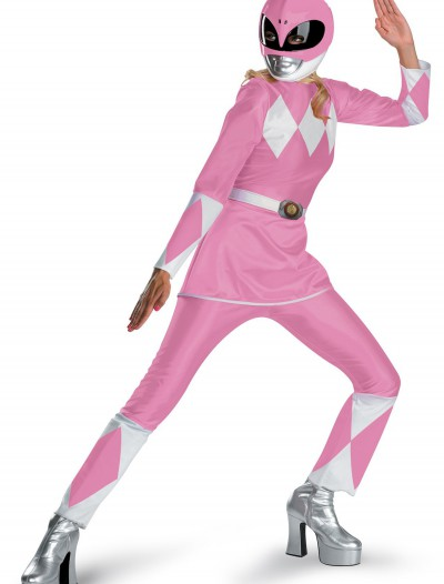 Adult Pink Power Ranger Costume, halloween costume (Adult Pink Power Ranger Costume)