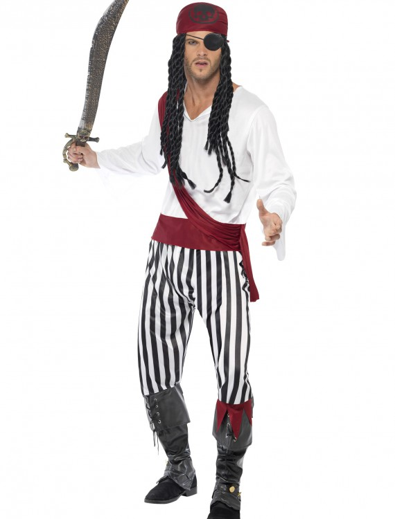 Adult Pirate Man Costume, halloween costume (Adult Pirate Man Costume)