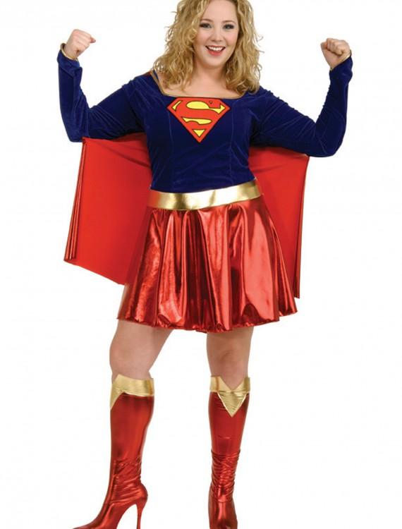 Adult Plus Size Supergirl Costume, halloween costume (Adult Plus Size Supergirl Costume)