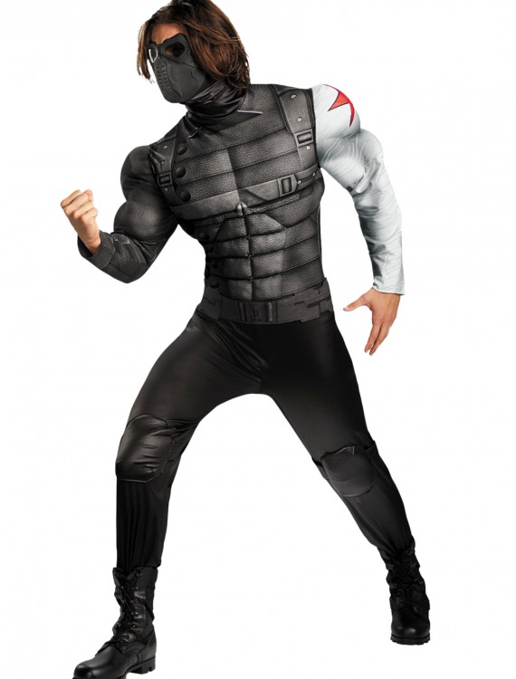 Adult Plus Winter Solder Classic Muscle Costume, halloween costume (Adult Plus Winter Solder Classic Muscle Costume)