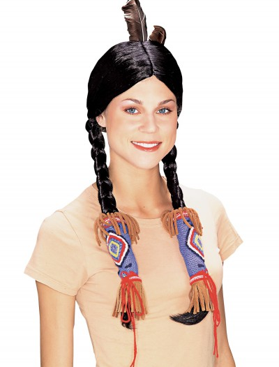 Adult Pocahontas Indian Wig, halloween costume (Adult Pocahontas Indian Wig)