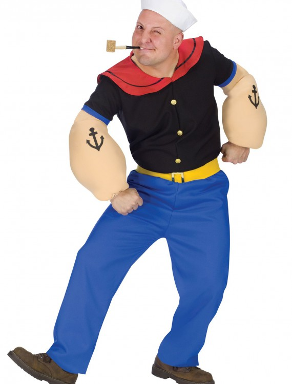 Adult Popeye Costume, halloween costume (Adult Popeye Costume)