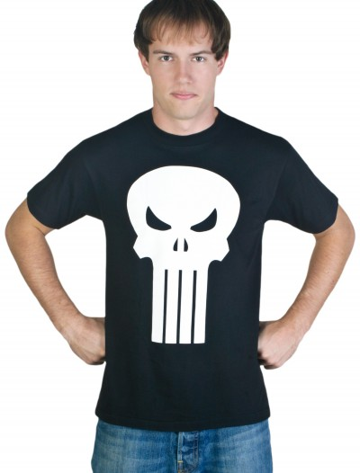 Adult Punisher T-Shirt Costume, halloween costume (Adult Punisher T-Shirt Costume)