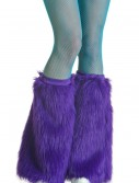 Adult Purple Furry Boot Covers, halloween costume (Adult Purple Furry Boot Covers)