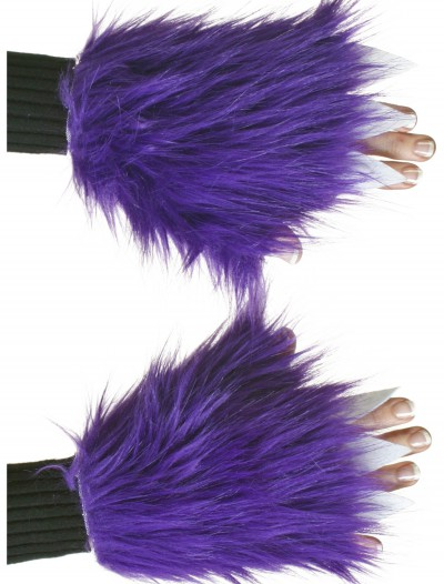 Adult Purple Fuzzy Hand Covers, halloween costume (Adult Purple Fuzzy Hand Covers)