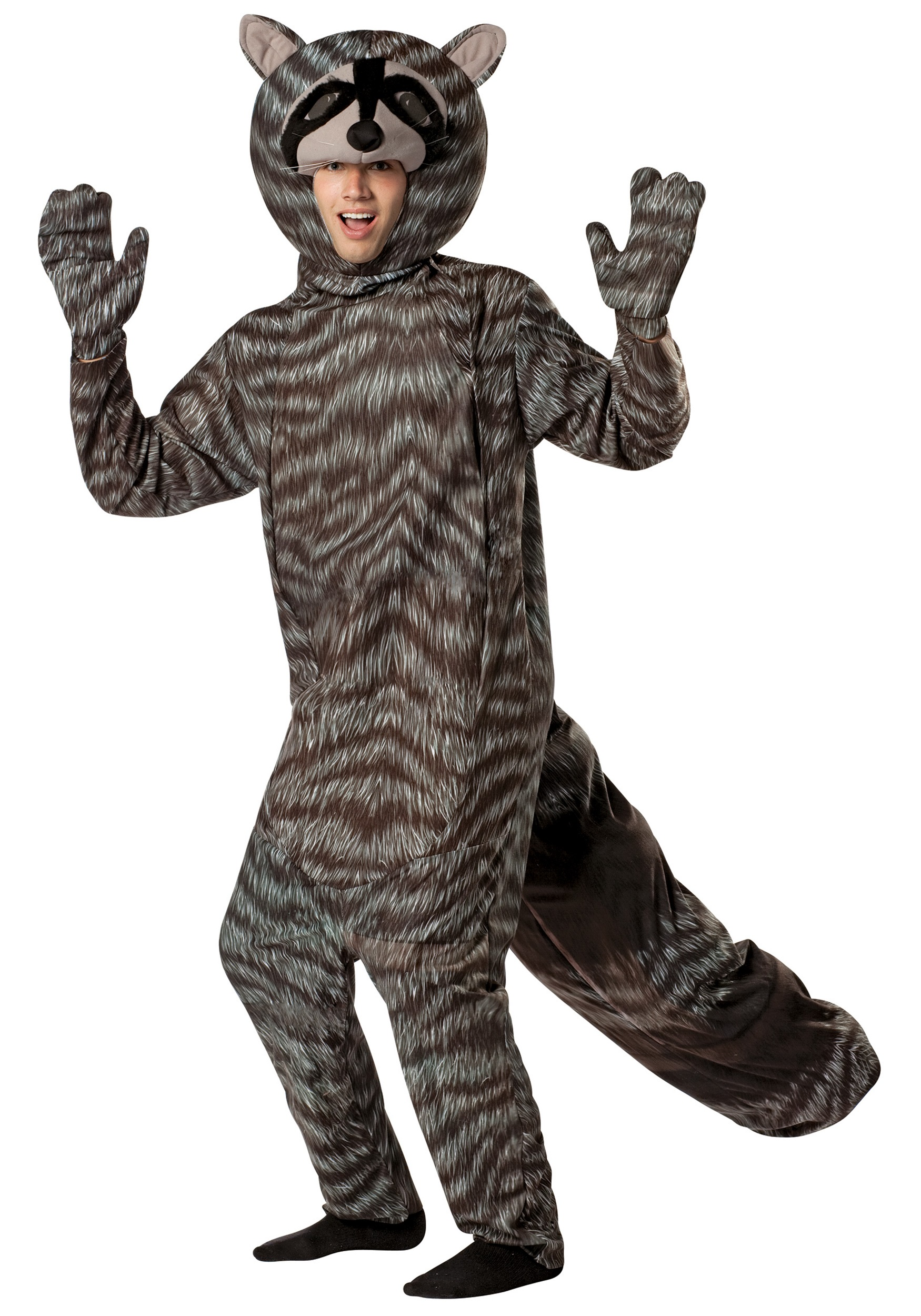adult raccoon costume - halloween costumes