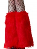 Adult Red Furry Boot Covers, halloween costume (Adult Red Furry Boot Covers)