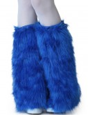 Adult Royal Blue Furry Boot Covers, halloween costume (Adult Royal Blue Furry Boot Covers)